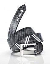 PATTERN BELT BLACK / white