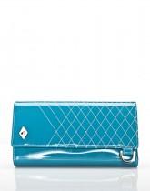 COACHELLA BLUE PATENT LEATHER / ivory thread